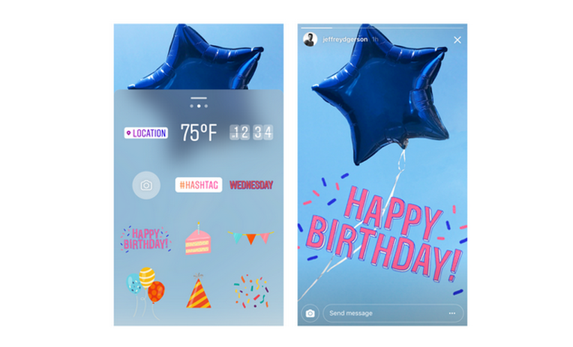 Instagram released stickers to celebrate its one year anniversary. Instagram