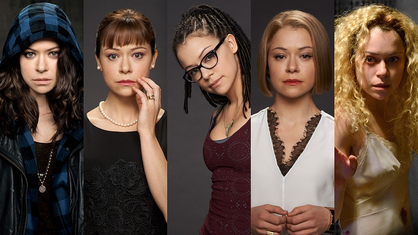Five of the clones played by Tatiana Maslany in Orphan Black