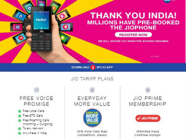 JioPhone was released at the 40th Reliance AGM. Reliance Jio.