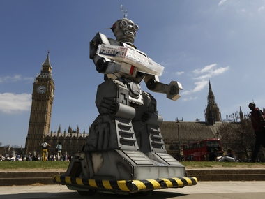 Campaign to Stop Killer Robots in London April 23, 2013. Reuters