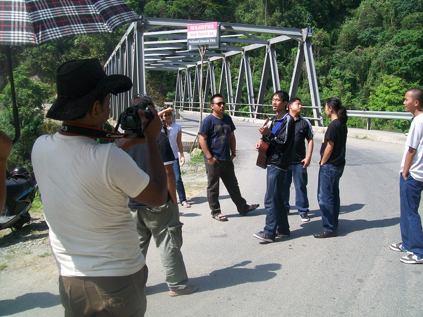 Shooting the documentary in Mizoram. Image courtesy Guns and Guitars