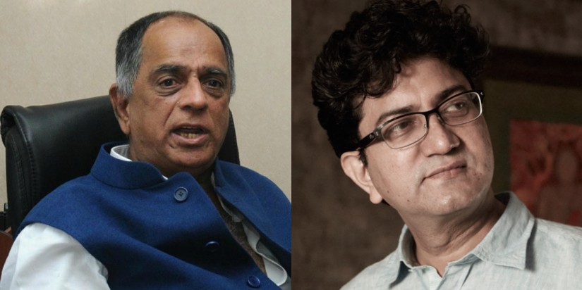 Pahlaj Nihalani (L) has been replaced by Prasoon Joshi (R)
