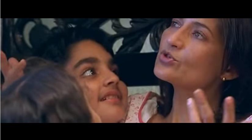 Parzaan Dastur and Sarika in a still from Parzania. YouTube screegrab.