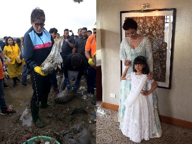 Amitabh Bachchan cleans up Mumbai beach, Aishwarya-Aaradhya at IFFM : Social Media Stalkers' Guide