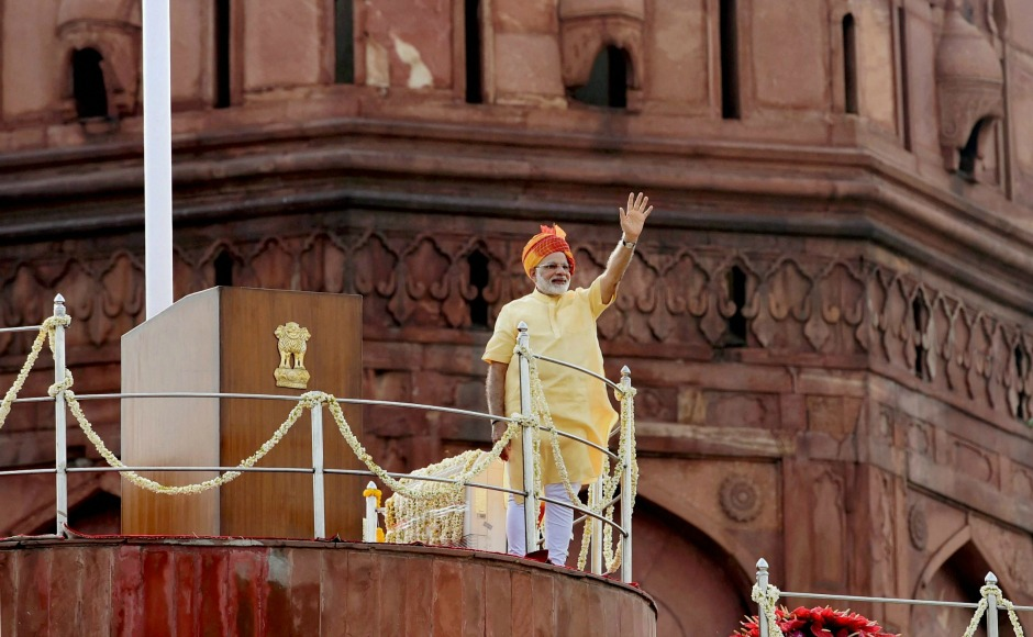 Narendra Modi addresses the nation at Red Fort as India celebrates 70 years of independence