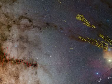 Filamentary clouds and B-fields in the Pipe Nebula. Nature Astronomy