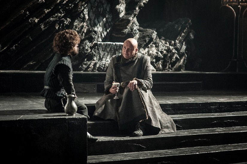What scheme does Varys have in mind? Still from Game of Thrones season 7 episode 5: Eastwatch. Image via HBO