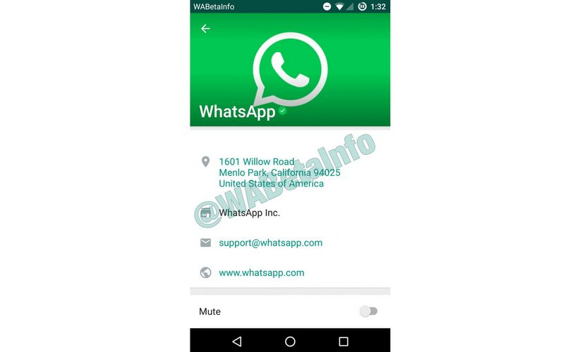 A beta screenshot of the WhatsApp for Business service. WABetaInfo
