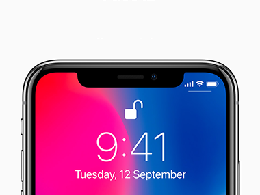 The TrueDepth sensor array on the Apple iPhone X