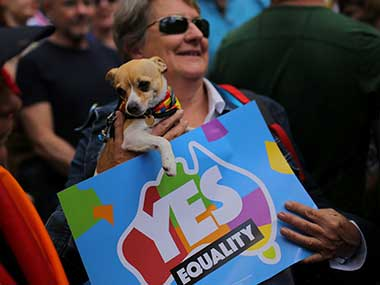 Australia samesex marriage poll Thousands rally in support of gay rights even as shrinking lead worries some
