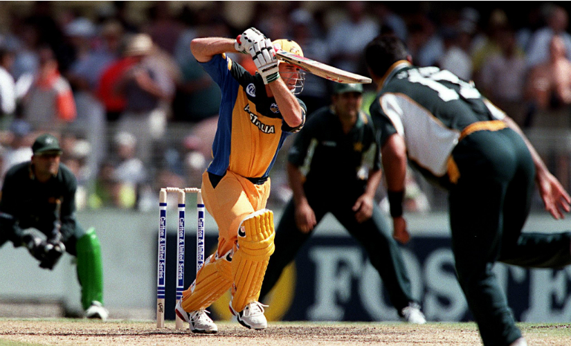 Michael Bevan steered Australia out of trouble by blunting the best bowling attacks. AFP