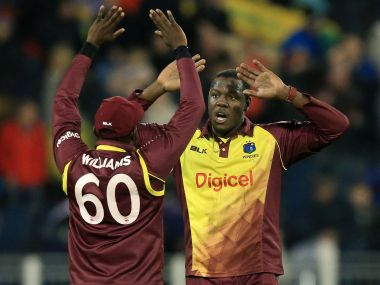 England vs West Indies, one-off T20I: Carlos Brathwaite, Chris Gayle shine to help visitors to a 21-run win