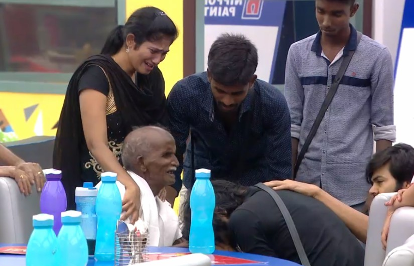 Contestants break down after seeing Snehan's father