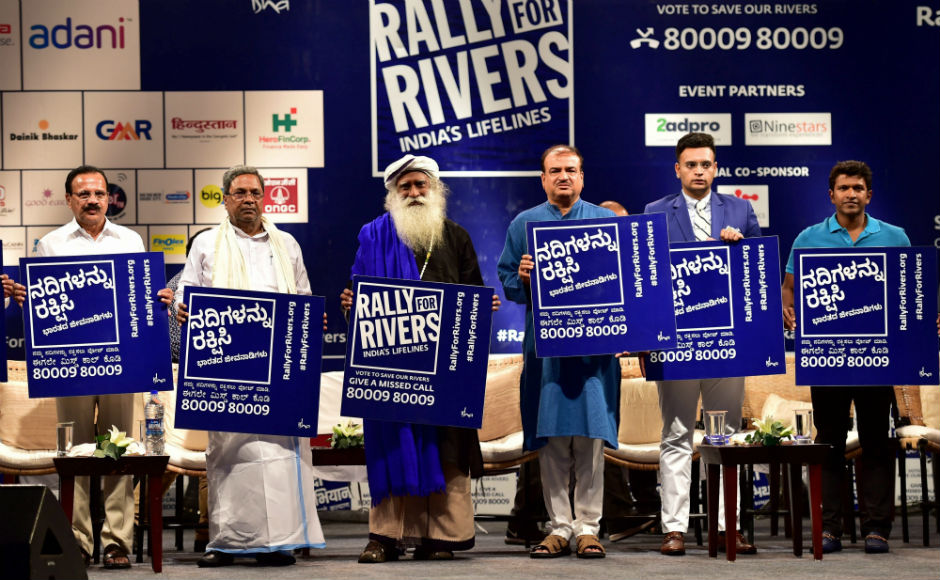 Rally for Rivers: Isha Foundation's campaign gets backing from Siddaramiah, Union ministers