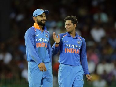 File image of Virat Kohli and Kuldeep Yadav. AP