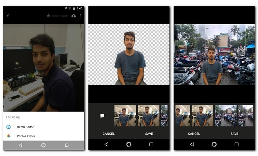 Moto G5S Plus Depth Editor
