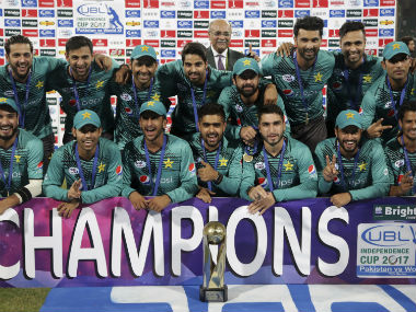 Pakistan won the three-T20I series against World XI 2-1 with a 33-run win in the final match. AP