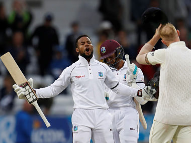 Cricket - England vs West Indies - Second Test - Leeds, Britain - August 29, 2017 West Indies' Shai Hope celebrates their win Action Images via Reuters/Lee Smith - RC1A4D09B440
