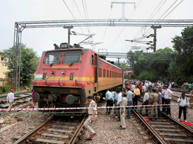 Rajdhani Express engine power coach derails near Minto bridge in New Delhi no injuries reported