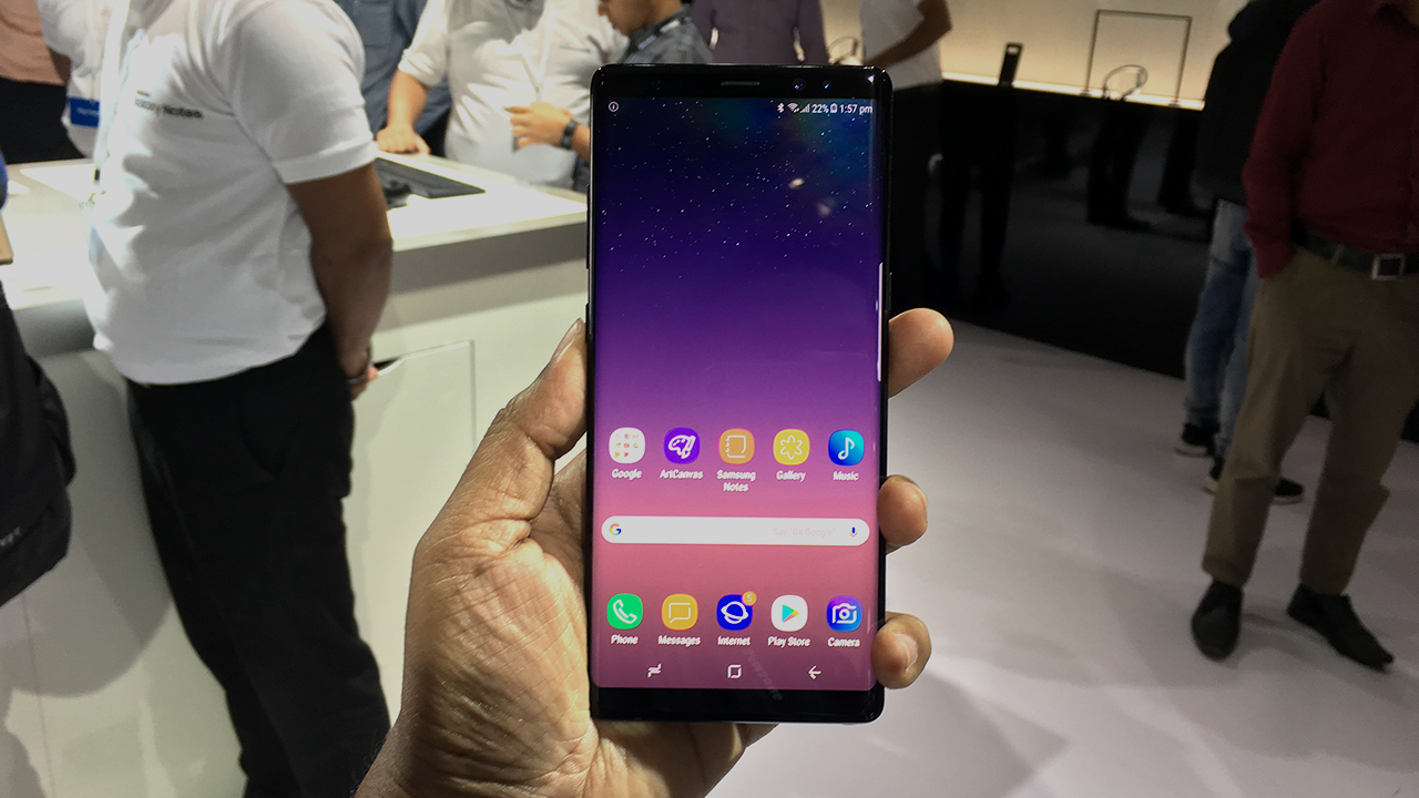 The Note 8 is about half an inch larger than the Galaxy S8 Plus