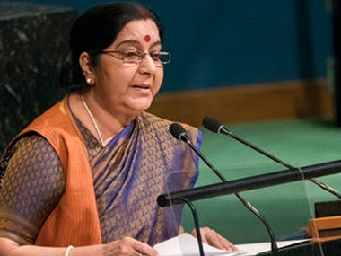 Sushma Swaraj to visit Nepal in Feb Kathmandu trip comes in wake of polls which saw Left coalition gain majority in Parliament