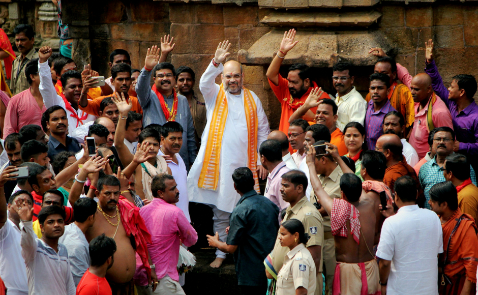 Amit Shah arrives in Bhubaneswar, promises to fight 2019 Odisha Assembly polls alone