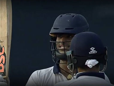 India Red's Washington Sundar in action on day two of the Duleep Trophy final. News18