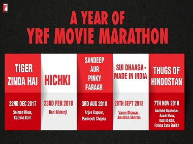 Thugs of Hindostan, Tiger Zinda Hai, Hichki release dates announced by YRF: Here's when they come to theatres
