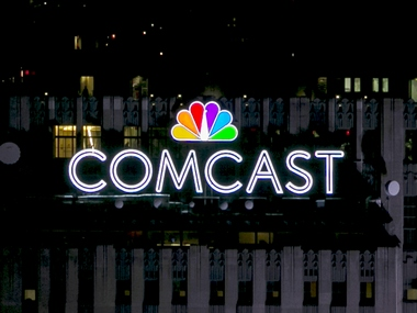 The NBC and Comcast logo. Reuters