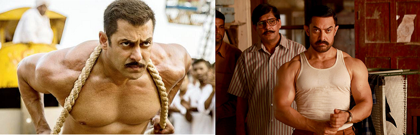 Stills from Sultan and Dangal