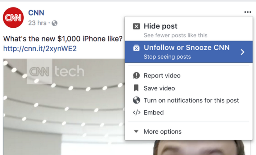 Facebook Snooze temporarily mutes your incredibly annoying friends