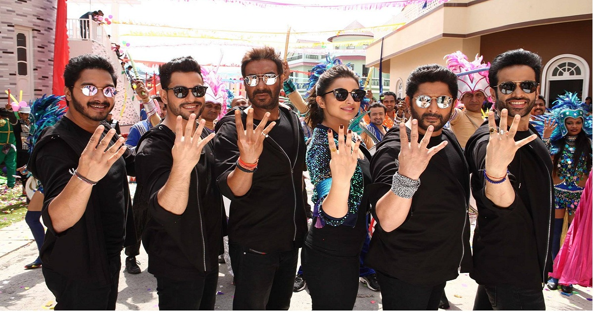 Still from Golmaal Again title track. Image via Facebook/ Golmaal Again