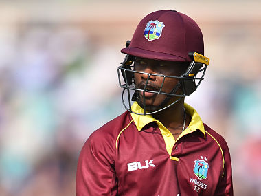 West Indies' Jason Mohammed leaves the field after losong his wicket for 46 during the fourth One-Day International (ODI) cricket match between England and the West Indies at the Oval in London on September 27, 2017. / AFP PHOTO / Glyn KIRK / RESTRICTED TO EDITORIAL USE. NO ASSOCIATION WITH DIRECT COMPETITOR OF SPONSOR, PARTNER, OR SUPPLIER OF THE ECB