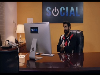 Rana Daggubati in a still from Social. YouTube