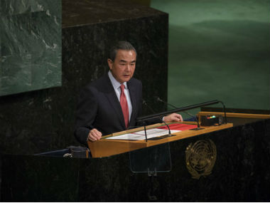 At UN General Assembly, China tells world leaders talks 'only way' with North Korea; warns Asian nations from seeking nukes
