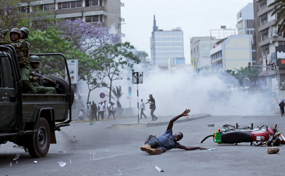 Violence erupts in Kenya as protests for electoral reform intensify ahead of presidential election