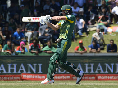 South Africa's AB de Villiers plays a shot during the second ODI against Bangladesh. AFP