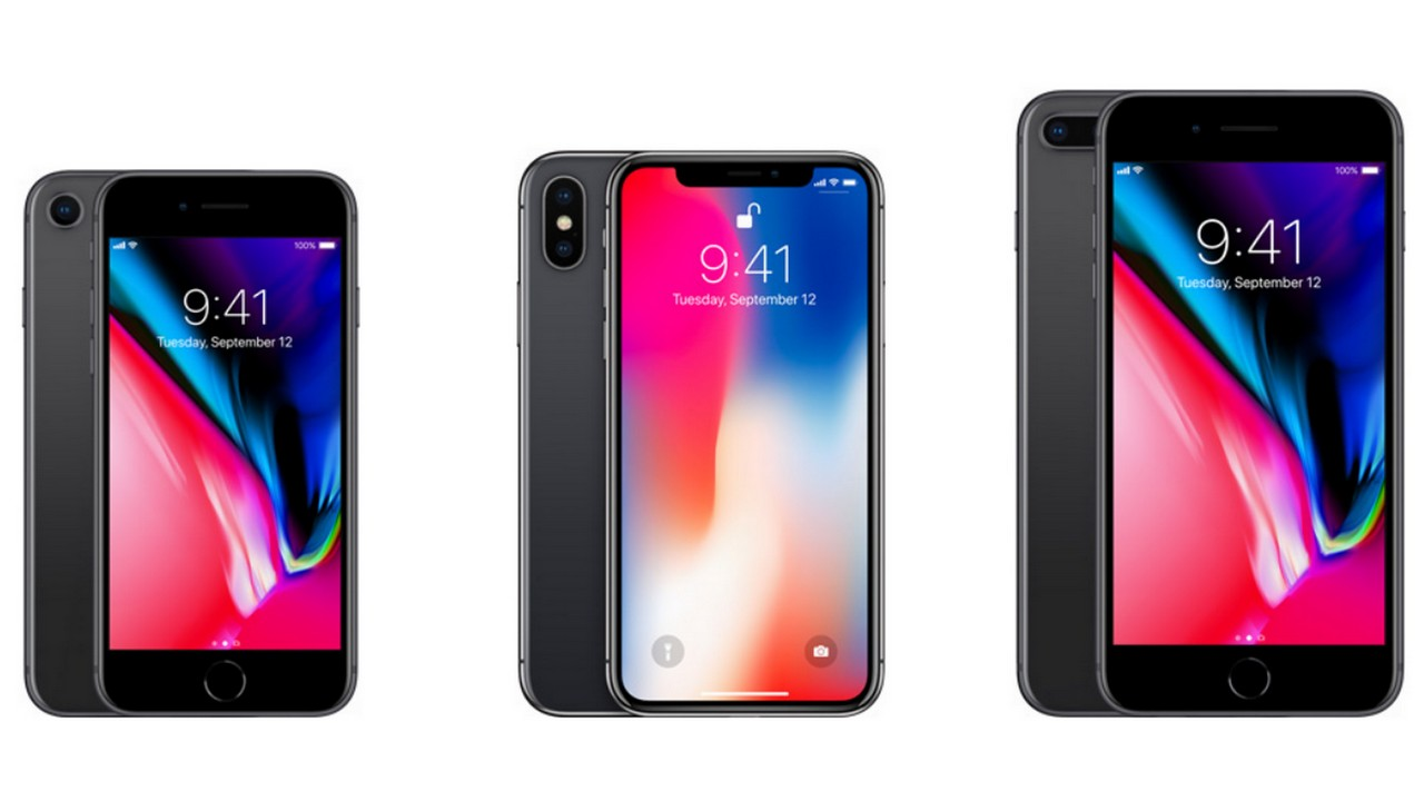 The Apple iPhone 8, iPhone X and the iPhone 8 Plus