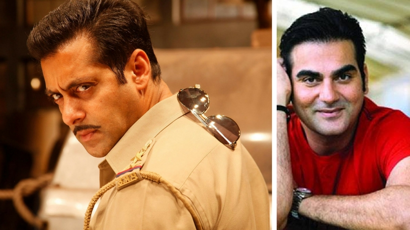 Salman Khan in Dabangg (left); Arbaaz Khan (right). Image courtesy: Facebook