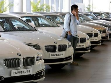 MW cars at a dealer shop in Beijing, China. Reuters