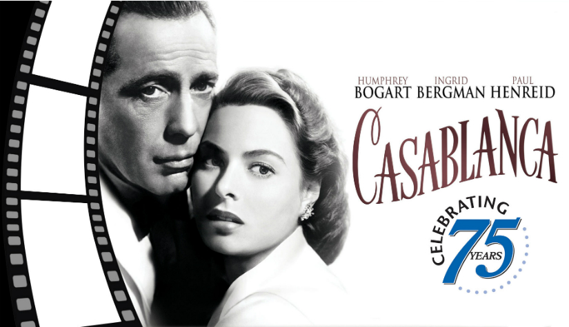 Here's looking at you for 75 glorious years, kid! Casablanca released on 26 November, 1942.