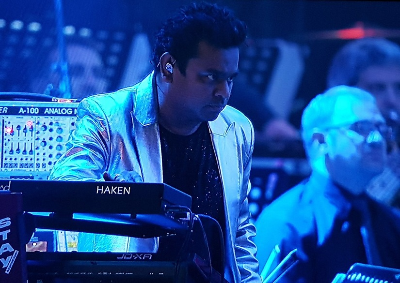 AR Rahman at the launch of 2.0. Image from Twitter/@2Point0movie