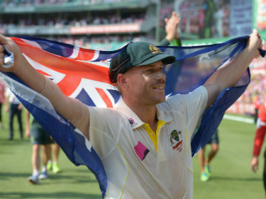 Australia vice-captain David Warner earlier compared The Ashes to stepping into war. AFP