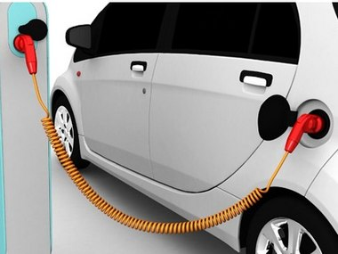 Electric car at a charging point. Representational Image