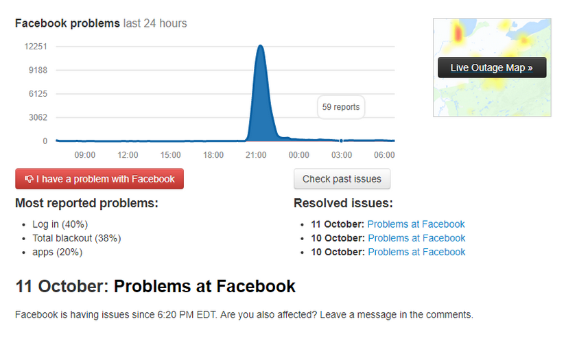 Is Facebook down? Users report problems worldwide