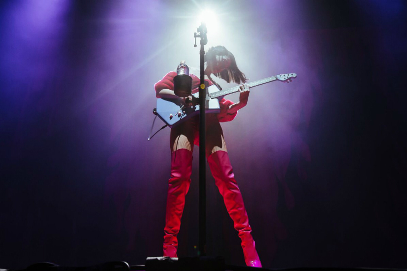 St. Vincent performs during Fear the Future Tour to promote her album. Twitter/@st_vincent