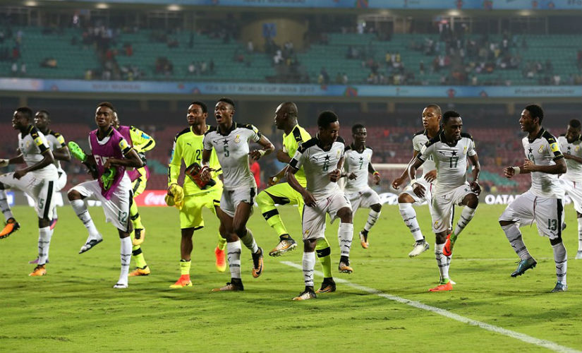 FIFA U17 World Cup 2017 Ghana Supporters Union provide music for fleetfooted Black Starlets dance