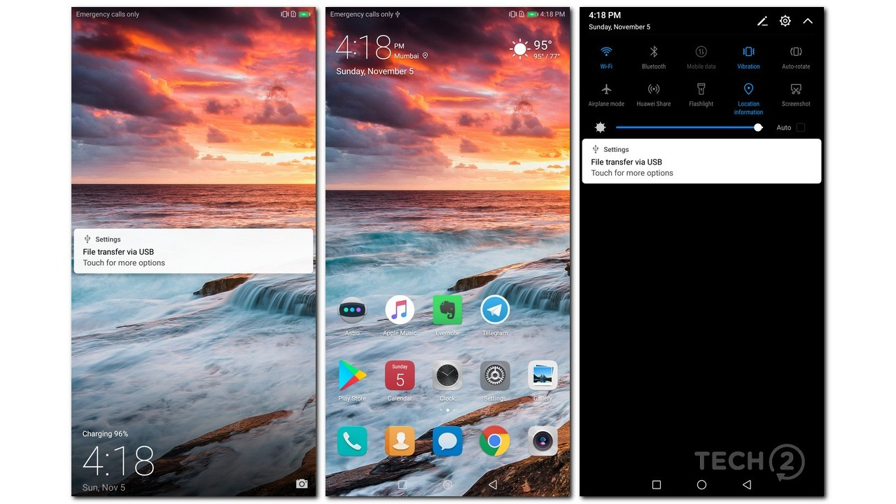 The software on board is typically Huawei, but feels fluid and fast.