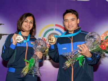 ISSF World Cup Final 2017 Jitu Rai and Heena Sidhu hand India first gold medal at yearending tournament
