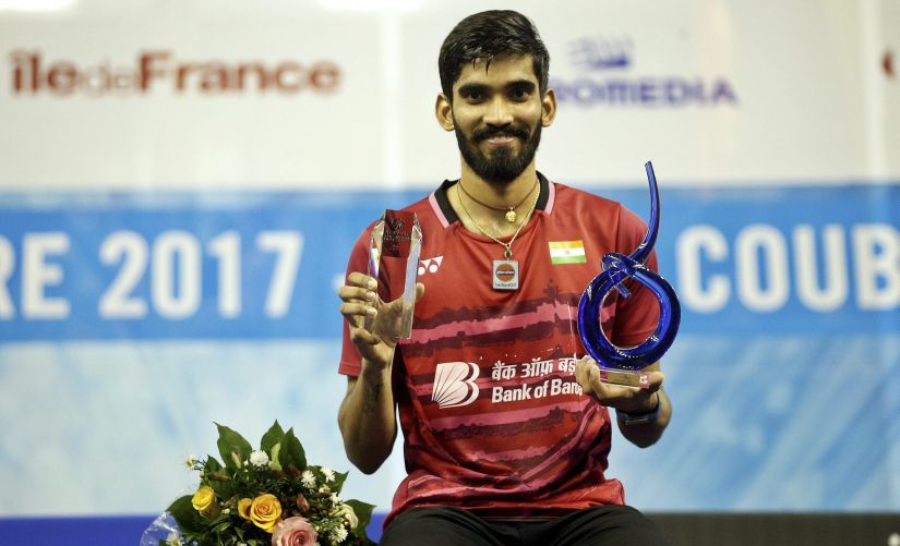 French Open Superseries Kidambi Srikanth wins title at a canter but worries rise over a knee niggle